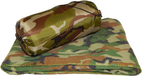 Weiche Fleece Decke 200 x 150 cm woodland